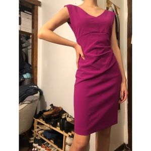 Diane von Furstenberg Bevin Ruched Dress Fuschia